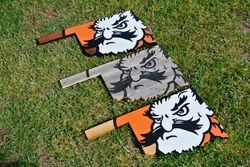 Pistol Pete Oklahoma State Wood Painted Sign