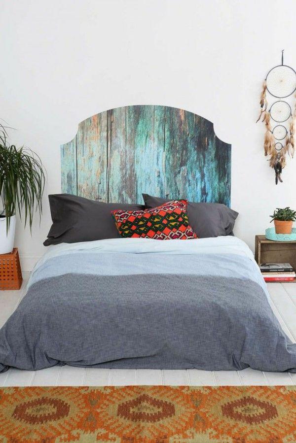 AuBergewohnlich Bett Kopfteil Schöne Wohnideen Schlafzimmer Pflanzen Wanddeko
