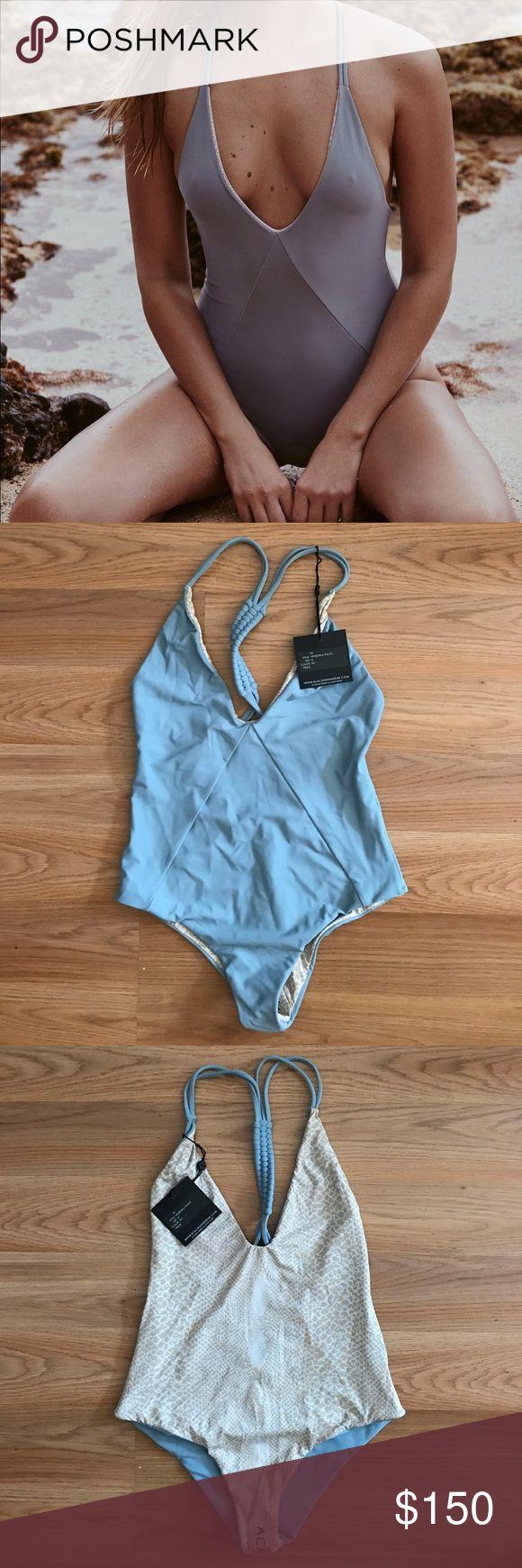 Acacia Venezuela One Piece Reversible. Sky color. NWT acacia swimwear Swim One Pieces