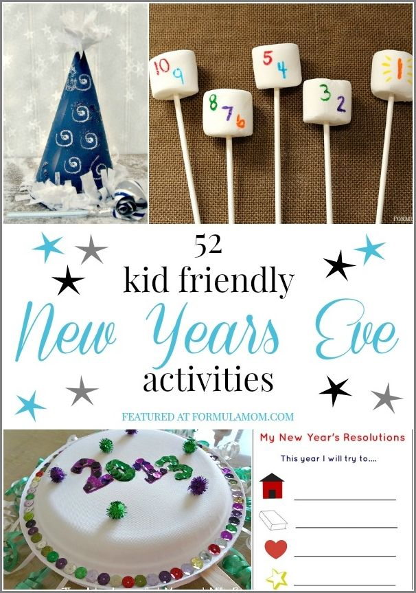 Celebrate with the whole family with these 52 New Years Eve Kid Friendly Activities!