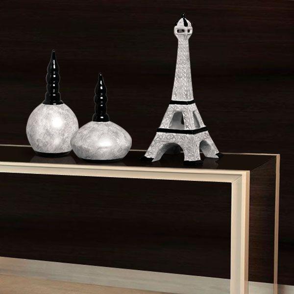 Com textura prata marmorizada estas peças trazem beleza e requinte ao ambiente.