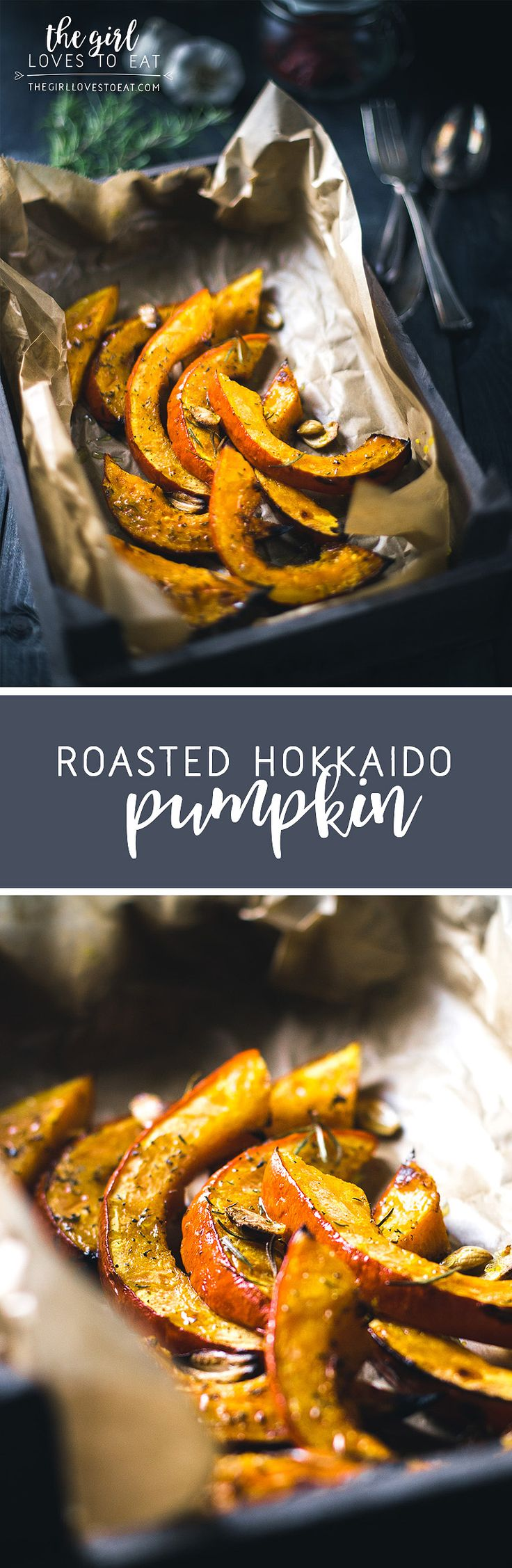 Roasted Hokkaido Pumpkin { thegirllovestoeat.com }