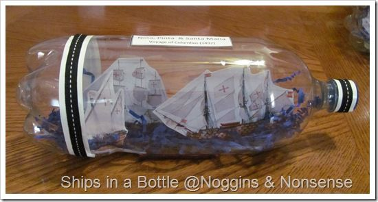 ship in bottle What a great idea - printables was great too! http://www.nogginsandnonsense.blogspot.com/2010/10/tutorial-ships-in-bottle-christopher.html