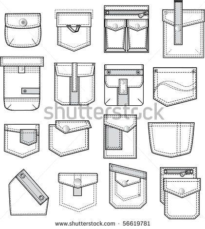 set of pockets outlines