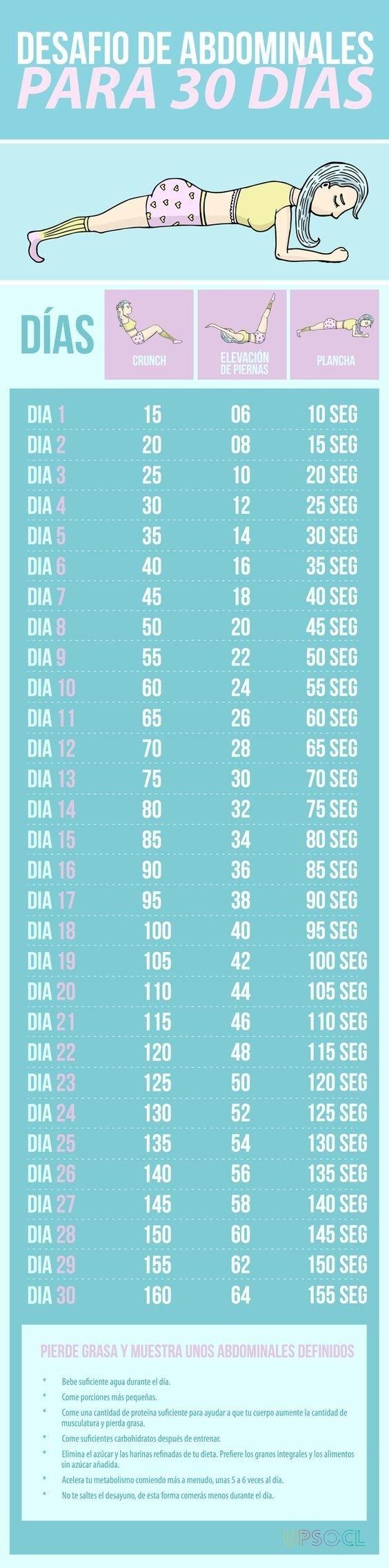 Empieza un reto de 30 días y ve aumentando la dificultad poco a poco.   21 Trucos para empezar a hacer ejercicio y no morir en el intento