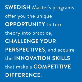 """""""Challenge Your Perspectives"""" The Swedish Scholarship Awards 2013. Compete for a full tuition waiver for an English-taught master's program at at prestigious Swedish university. Deadline: November 4, 2012. The competition is open for students holding a Bachelor's degree  from a U.S. university or undergraduate students expecting to    complete a Bachelor's degree from a U.S. university by June  2013. Some programs have special entry requirements; please see website for more information."""