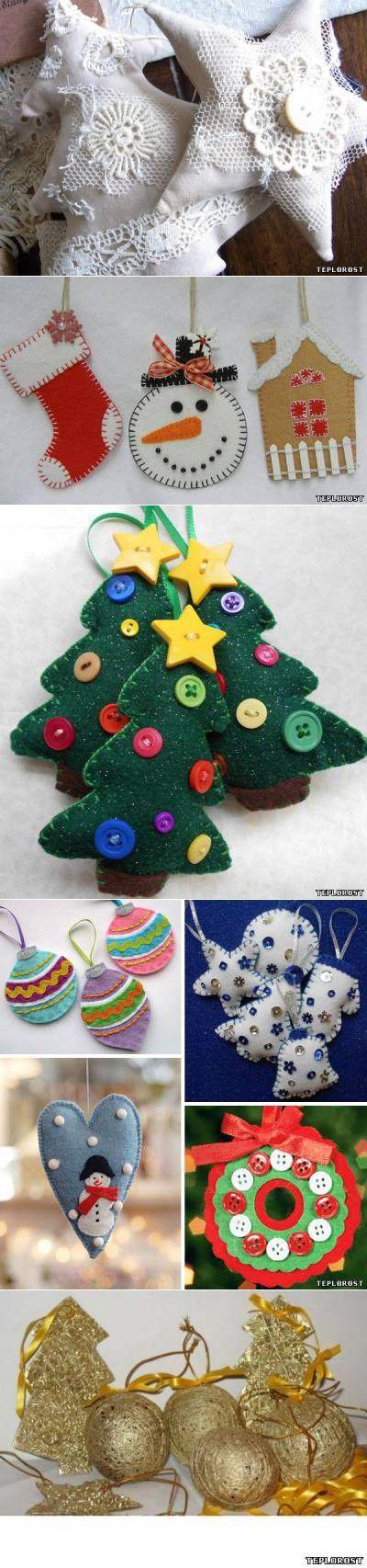 Новогодние поделки и игрушки своими руками