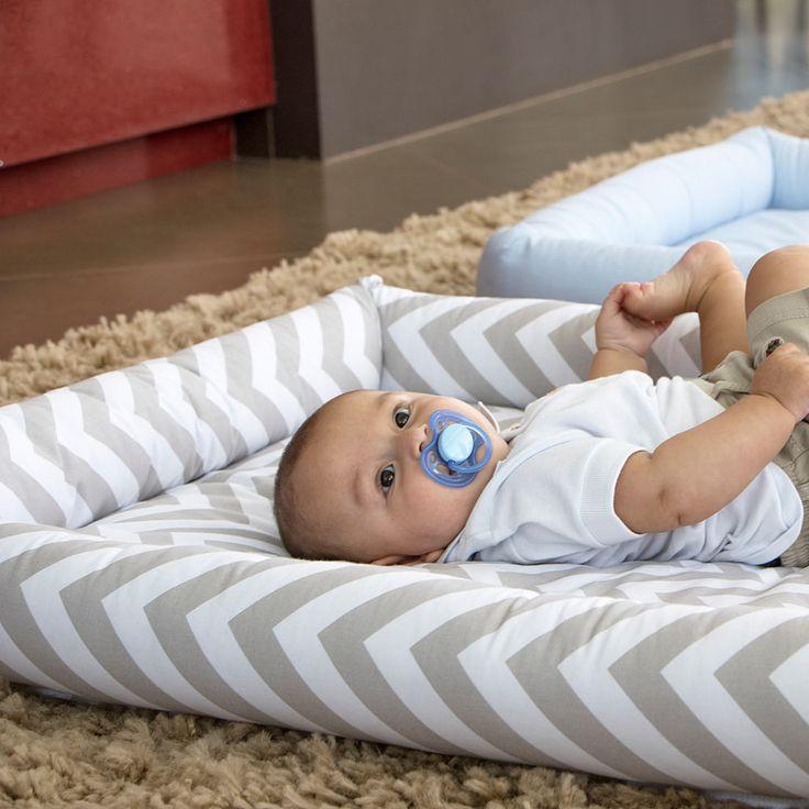 Colchonete para Bebê Chevron Cinza Biramar Baby - Baby Enxoval - BabyEnxoval