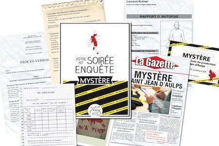 """Kit """"Soirée mystère"""": proposez à vos amis de mener l'enquête !"""