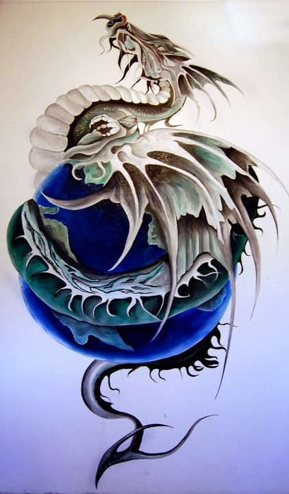 18 best images about wall murals on pinterest wall maps for Dragon mural for wall