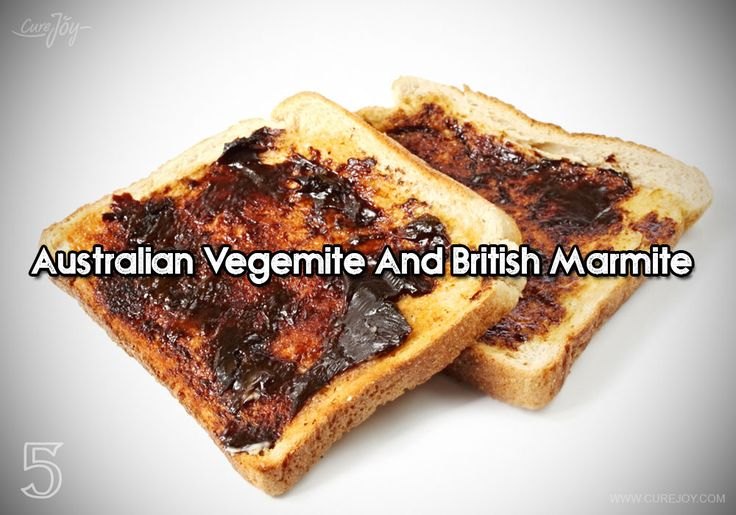 Vegemite is a spread made out of yeast extract, primarily popular in Australia. Vegemite is rich in B vitamins, especially vitamin B3. Known to boost your immunity and help your body fight effectively against bacteria. Just a thin spread on your toast would do make your breakfast more healthy and interesting.