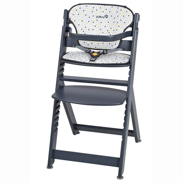 Design et évolutive, la chaise haute bébé bois Timba de SAFETY FIRST grandit avec votre enfant et le suivra à table de 6 mois jusqu'à ses 10 ans ! D'une hauteur idéale, la chaise haute bébé bois évolutive Timba de SAFETY FIRST est confortable avec son coussin et permet à bébé de voir tout ce qui se passe à table.Complète, elle est livrée avec coussin, tablette et harnais amovibles.Avantages de la chaise haute bébé Timba de SAFETY FIRST :- Idéale pour partager des repas en famille.- Évolutive…