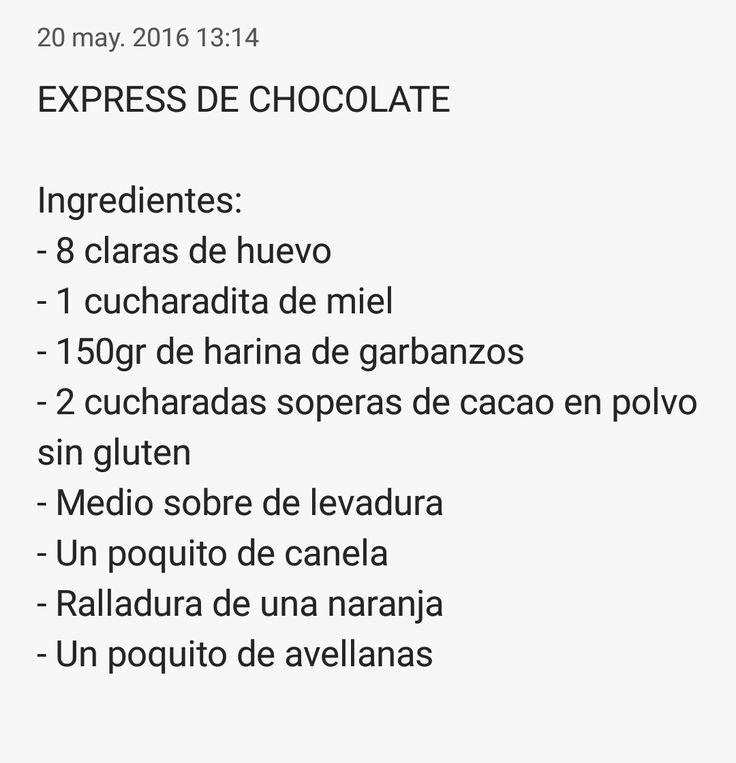 Ingredientes del express de chocolate