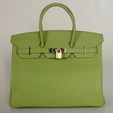 Hermes First Choice for The Season 1041 apple green cowhide portable platinum bag