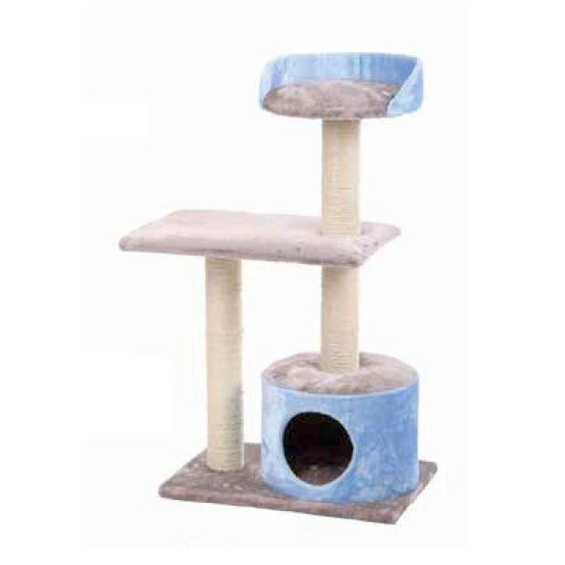 Fantástico árbol para gatos de 3 alturas distintas, un auténtico circuito donde jugar, rascar y disfrutar.
