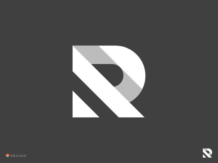 Black and White Logo Design - R Simpler by George Bokhua