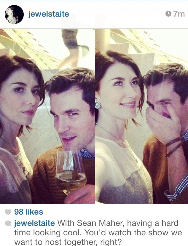 Jewel Staite and Sean Maher of Firefly are still bffs! Jewel looks so different, I feel weirded out