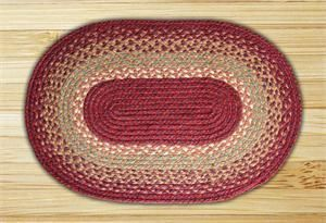 LolaViola - Rug Jute  Burgundy/Maroon/Sunflower Braided Rug Oval C-104, $24.00 (http://lolaviola.co/rug-jute-burgundy-maroon-sunflower-braided-rug-oval-c-104/)