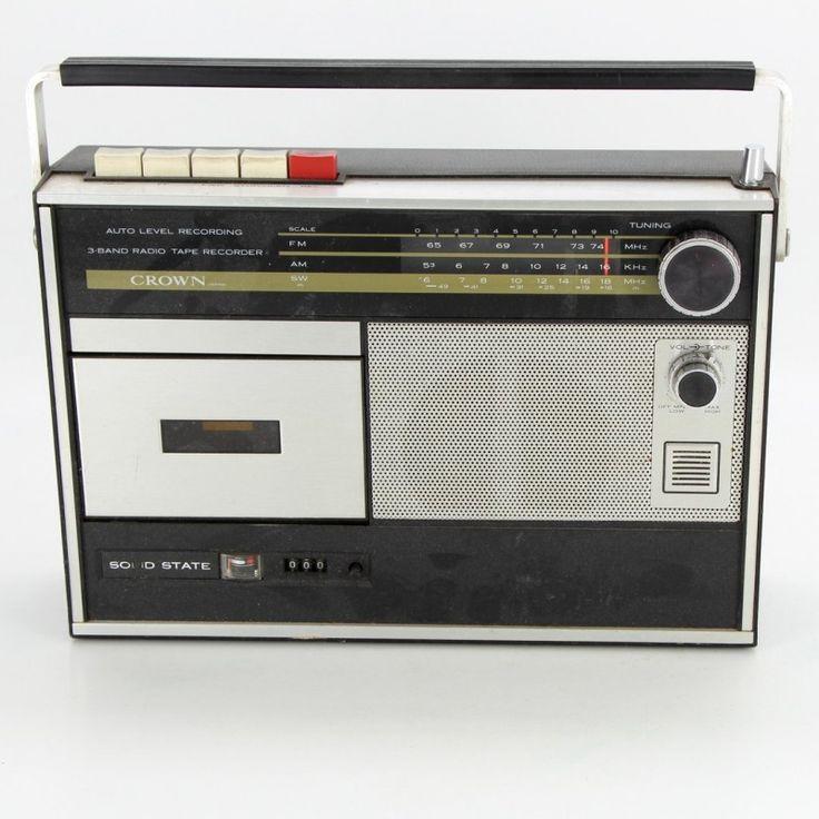 Radiomagnetofon Crown Japan CRC-455FW