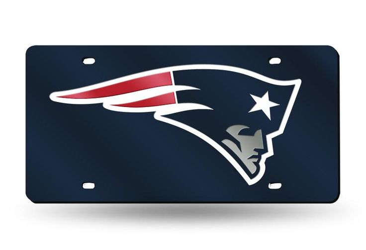 NFL New England Patriots Laser License Plate Tag - Navy