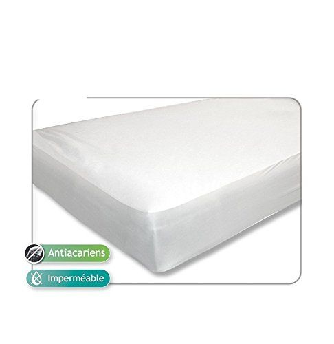Alèse/protège matelas anti-acarien et imperméable 90x190cm