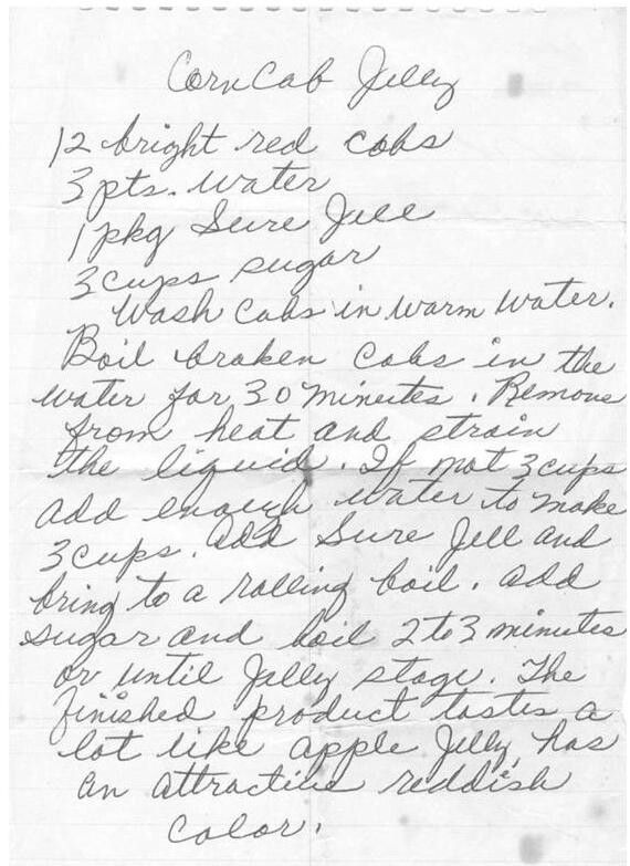 Grandma's recipes she saved