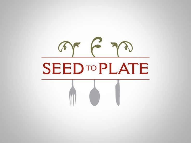 Logo Design for Seed to Plate Catering #logo #snowinjulydesigns