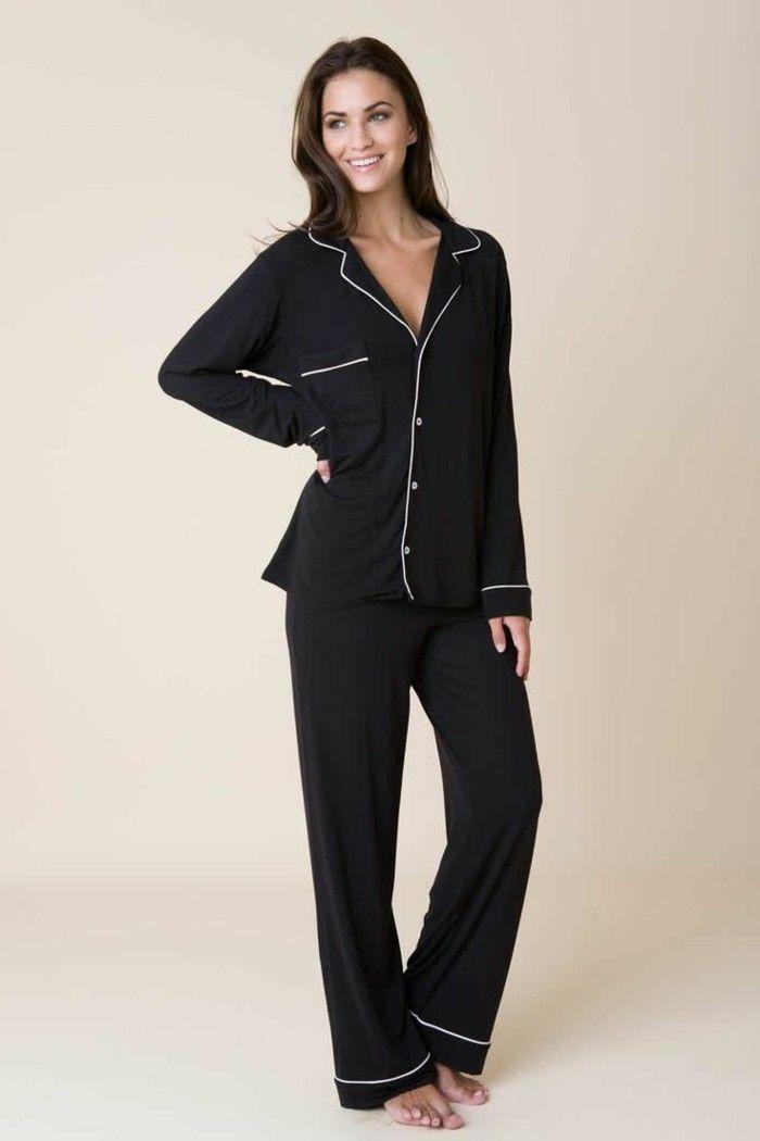 pyjama femme et les pyjamas chauds femme, pyjama noir femme
