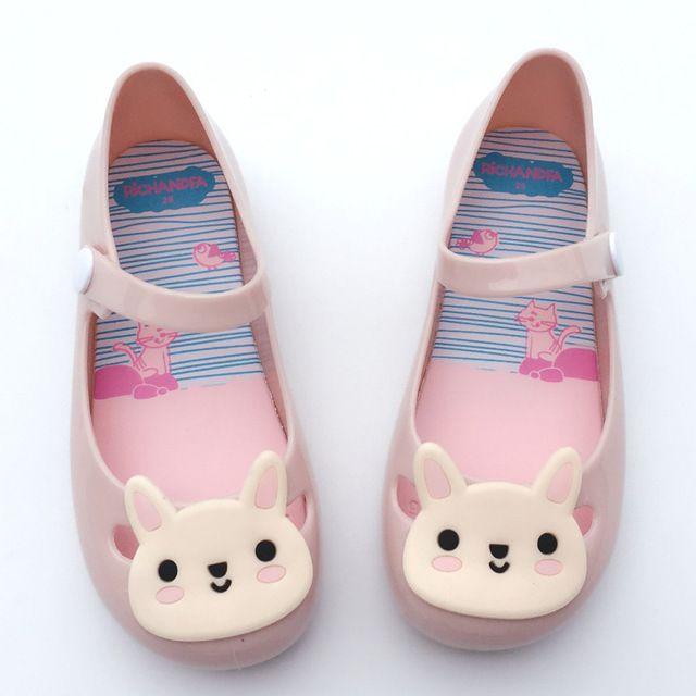Lato dziewczyna i chłopak galaretki buty sandały królik cartoon księżniczka obuwie plażowe buty