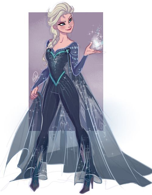 Elsa's X-men outfit based on How Frozen Should Have Ended :) awesome!
