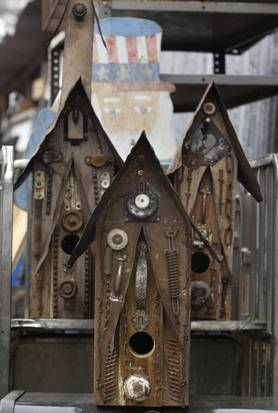 junky birdhouses - N.L. Jones, South Dallas man famed for artful birdhouses crafted from scrap items, dies at 82   Dallas-Fort Worth Obituaries - News for Dallas, Texas - The Dallas Morning News