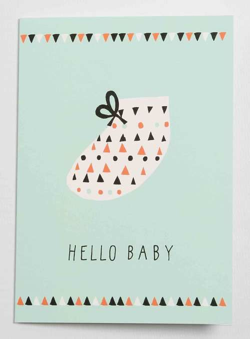 Hello Baby card by Becky Baur