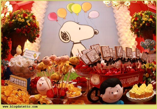Meninas da Tetto: Festa do Snoopy para 1 ano de Samuel