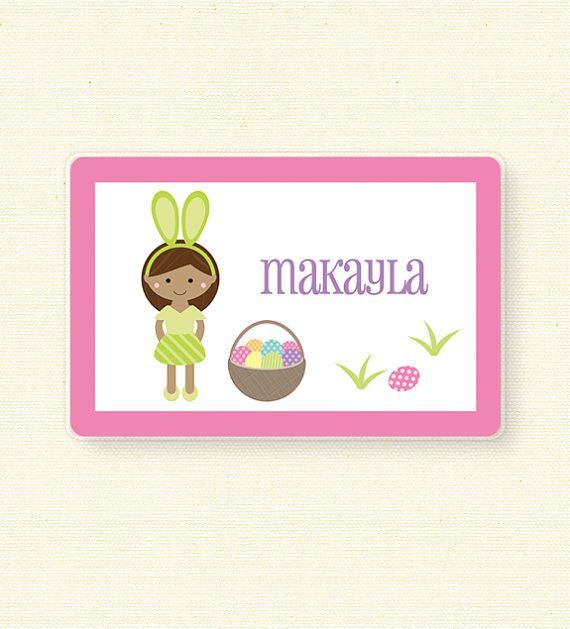 Personalized Easter Placemat by jpurifoy on Etsy