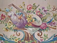 Design for Canapè Back - Gouache on heavy paper   Detail of above  Tapestry cartoons were produced by local painters - and sometimes well kn...