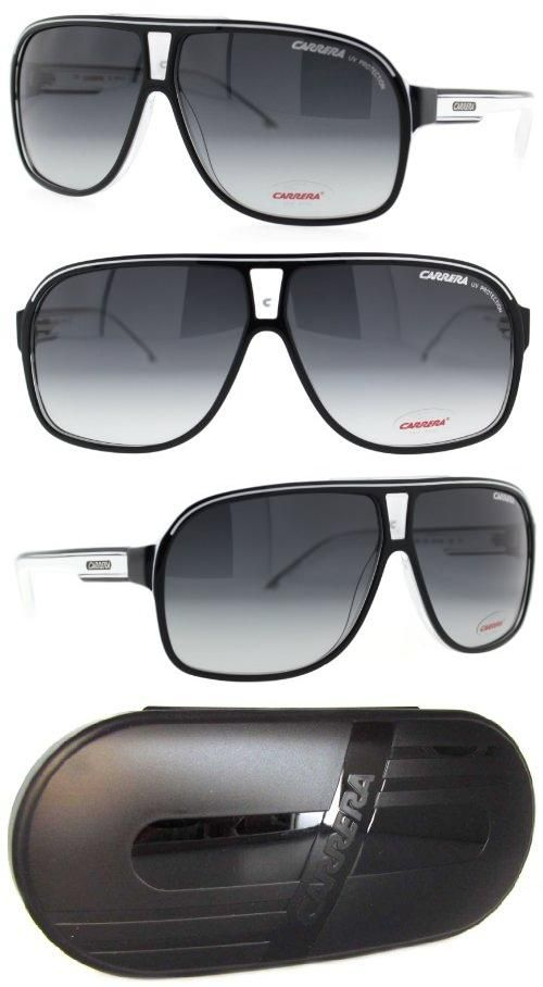 Carrera Grand Prix 2/S Navigator Sunglasses,Black Crystal Frame/Dark Grey Gradient Lens,One Size, The history of the Carrera brand begins in 1956, in the field of sports glasses, ski goggles, and helmets. It's the story of passion, innovation and success. Being a leader means being ahead of your t..., #Apparel, #Sunglasses