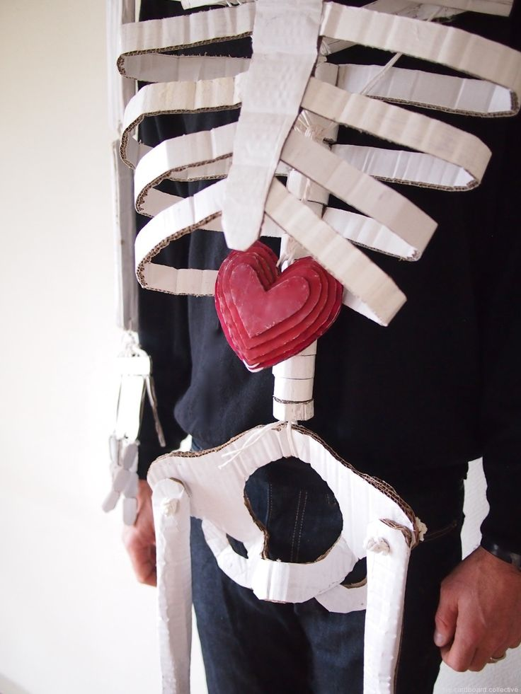 The Cardboard Collective: dancing cardboard skeleton costume