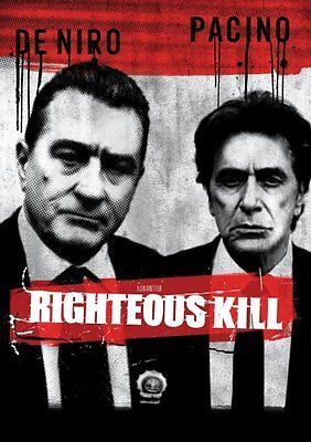 Righteous Kill DVD Robert De Niro, Al Pacino, Carla Gugino, 50 Cent, John Legui