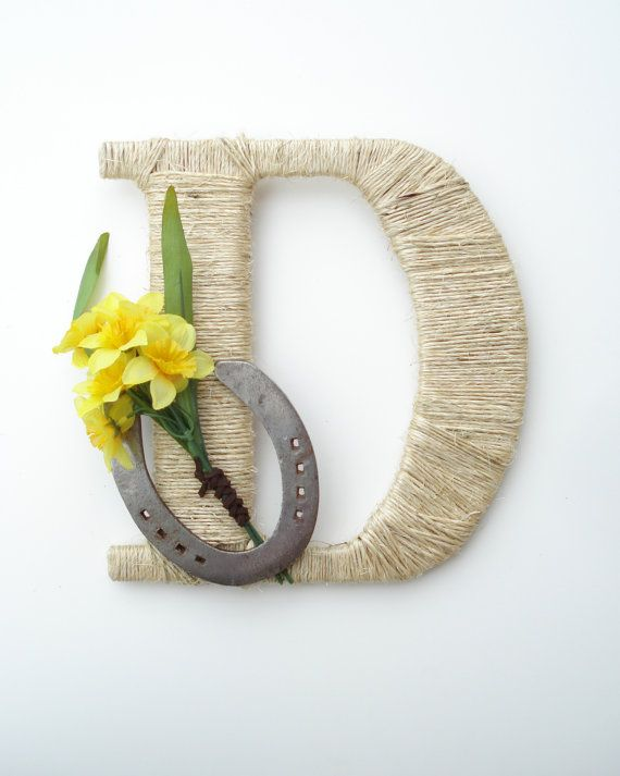 Rustic Wrapped Letter D  Rustic Letter Country by DreamersGifts
