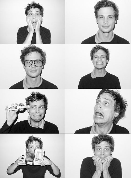 Matthew Grey Gubler - American actor, model, director, writer, artist, funny guy, etc... The triple threat of good looks, good heart, and wickedly talented.