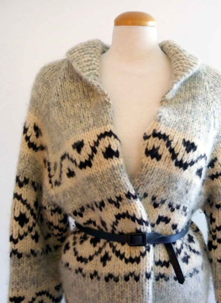 cowichan sweater - vintage sweater. $56.00, via Etsy.