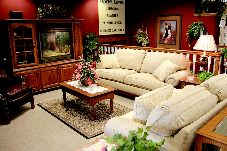 Weaver's Furniture is an Amish Country favorite! Wouldn't you want your living room to look like this? CLICK HERE for more about Weaver's at www.OACountry.com #Amish #Furniture #Ohio