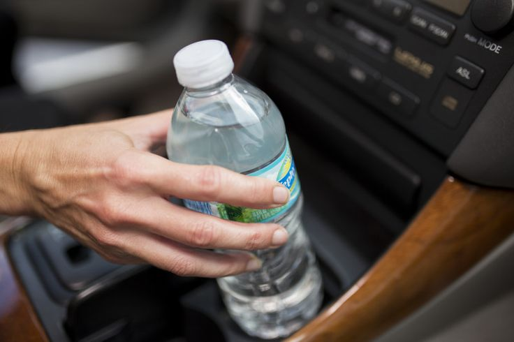 Plastic water bottles are made from polyethylene terephthalate. When heated, the material releases the chemicals antimony and bisphenol A, commonly called BPA.