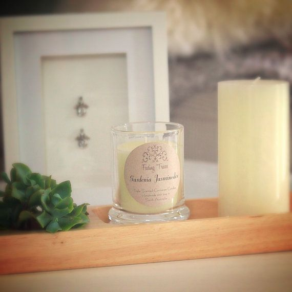 Gardenia Jasminodes Triple Scented Candle. 40 by FadingTraces