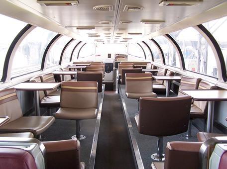 Orlando Auto Lounge >> Amtrak, Amtrak Superliner Panoramic windows on the upper ...