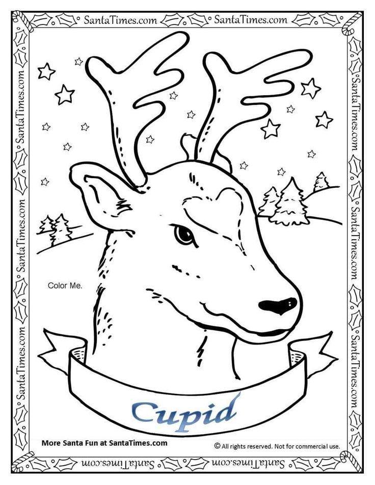 Rudolph Coloring Pages Of Him Flying, Santa Claus Flying With ...