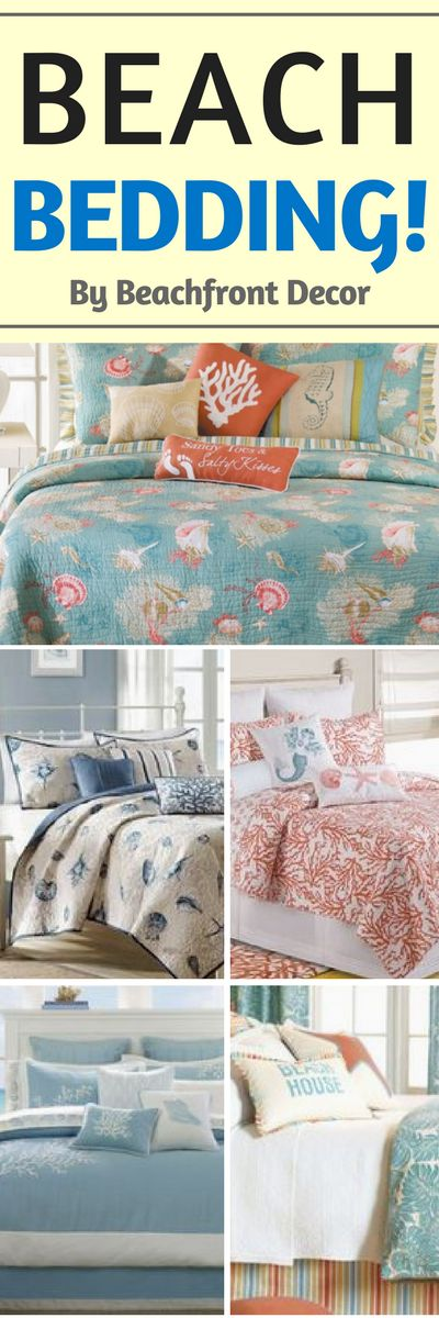 Beach Bedding Sets are absolutely beautiful! Discover the absolute best you can buy.  We have a giant list of our ultimate guide to coastal and beach themed bedding sets.