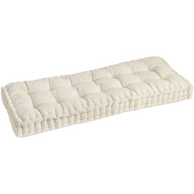 48 Tufted Natural Bench Cushion