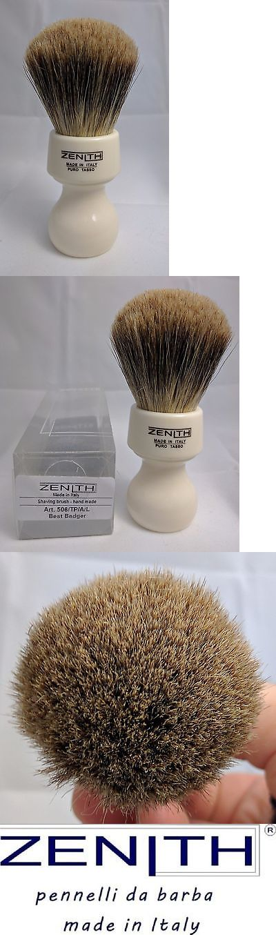 Shaving Brushes and Mugs: Zenith Resin Handle Xl Best Badger White Shave Brush. 27Mm. Made In Sicily. T3 -> BUY IT NOW ONLY: $45 on eBay!