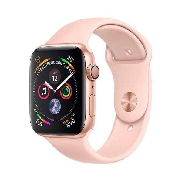 Apple Watch Series 4 Oro Con Correa Deportiva Rosa Reloj 44mm Smartwatch 16gb Wifi Bluetooth Gps Pan Apple Watch Apple Smartwatch Apple Watch Correas